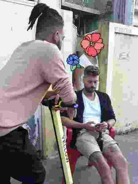 Rene Silva (em pé) e Hugo Cary (sentado) - arquivo pessoal