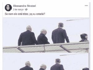 Imagem da segunda suposta postagem da blogueira Alessandra Strutzel - Reprodução/Facebook