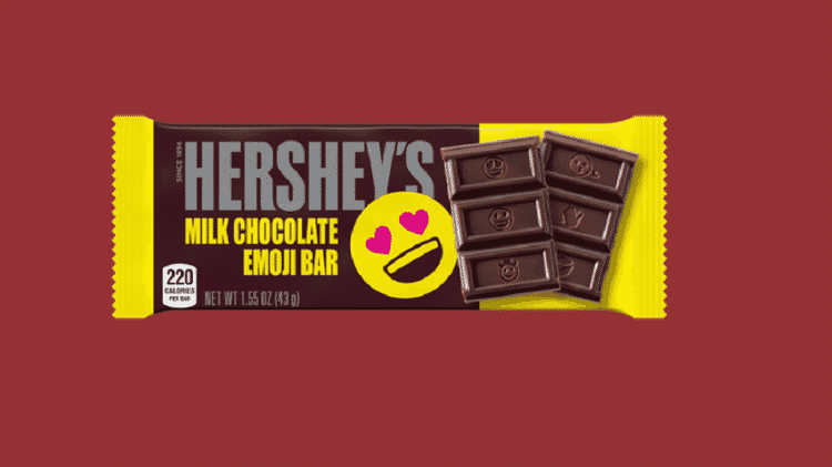 A marca Hershey's mudou o visual de sua barra de chocolates pela primeira vez em 2019 - Reprodução