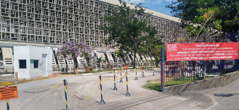 "Hospital Municipal M""Boi Mirim virou referência no atendimento à covid-19 na capital paulista - Cleber Souza/UOL"