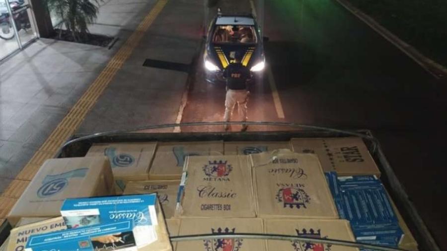 Polícia do MS apreende cigarro contrabandeado avaliado em R$ 1 milhão - Divulgação/PRF