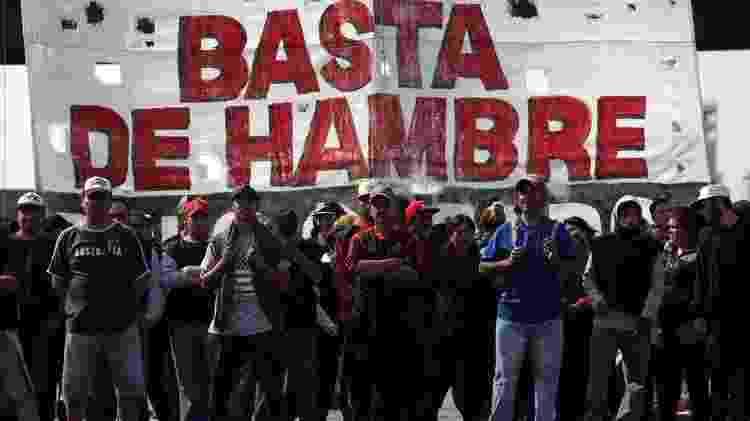 A pobreza também disparou na Argentina nos últimos anos - Getty Images - Getty Images