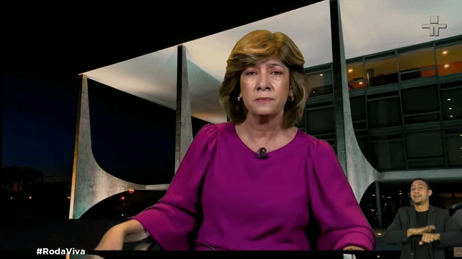 Carla Domingues, ex-coordenadora do PNI, no Roda Viva - Reprodução/TV Cultura