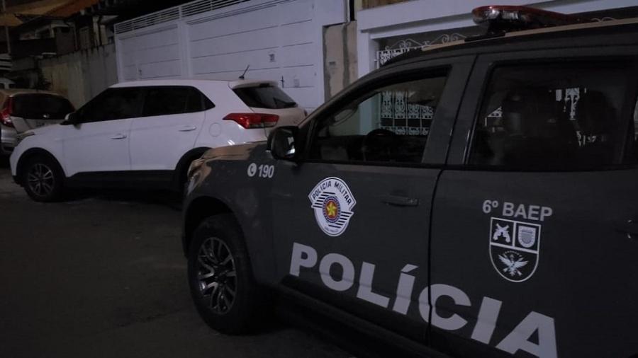 """Veículo recuperado em ação de """"Rota"""" do 6º Batalhão de Ações Especiais de Polícia - Divulgação/ Secretaria de Segurança de São Paulo"""