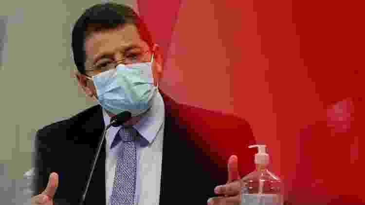 15.jun.2021 - O ex-secretário de Saúde do Estado do Amazonas Marcellus Campêlo durante fala à CPI da Covid - REUTERS / Adriano Machado - REUTERS / Adriano Machado