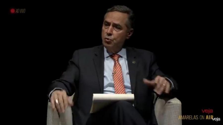 Luís Roberto Barroso em entrevista à revista Veja; 7 de setembro foi visto como um teste pelo ministro do STF - Reprodução/Veja