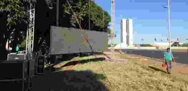 Telão na Esplanada - Ricardo Marchesan / UOL - Ricardo Marchesan / UOL