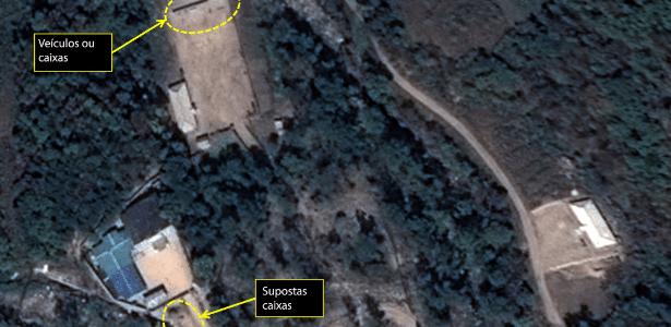 7.out.2016 - Imagem de satélite da região em torno do local do teste nuclear de Punggye-Ri, na Coreia do Norte