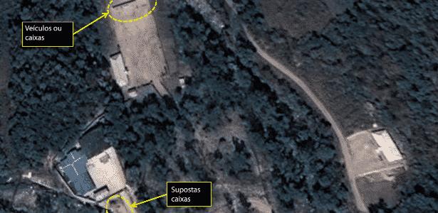 7.out.2016 - Imagem de satélite da região em torno do local do teste nuclear de Punggye-Ri, na Coreia do Norte - Airbus Defense & Space and 38 North via Reuters