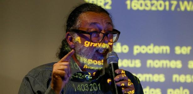 O perito Ricardo Molina durante entrevista coletiva para explicar laudo técnico pericial