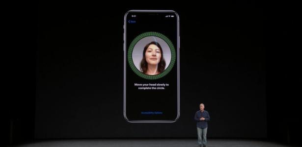 Face ID da Apple faz um reconhecimento facial 3D do usuário