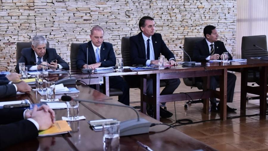 O presidente eleito, Jair Bolsonaro, faz reunião ministerial em Brasília - Rafael Carvalho/Divulgação/Governo de Transição