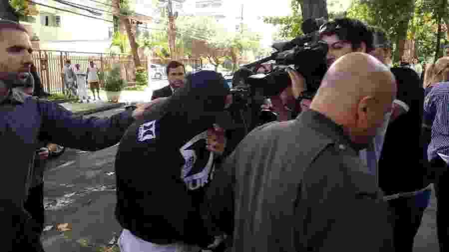 Ferreirinha se apresentou à polícia no final da manhã de hoje - Igor Mello/UOL