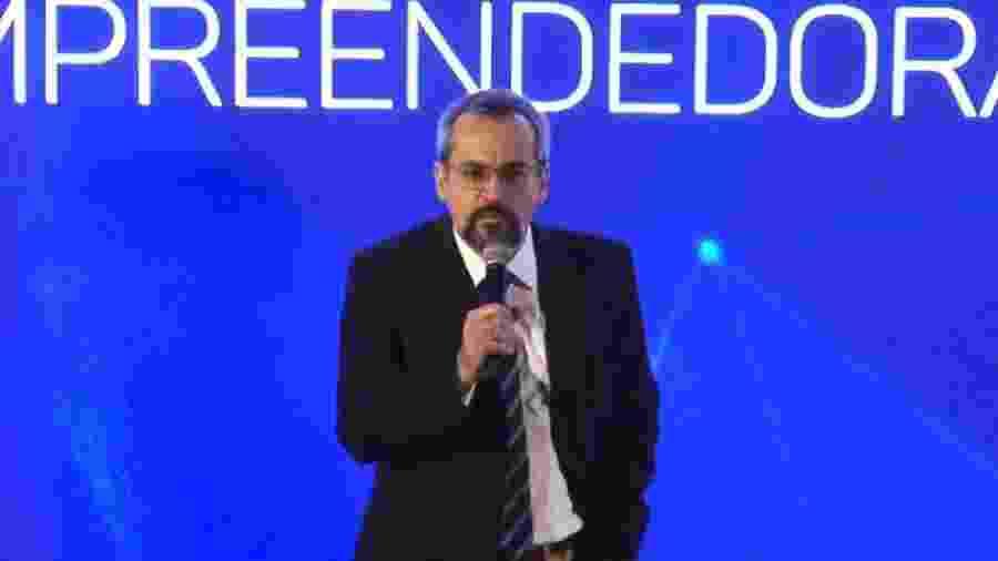 O ministro da Educação, Abraham Weintraub, durante apresentação do programa Future-se - Reprodução