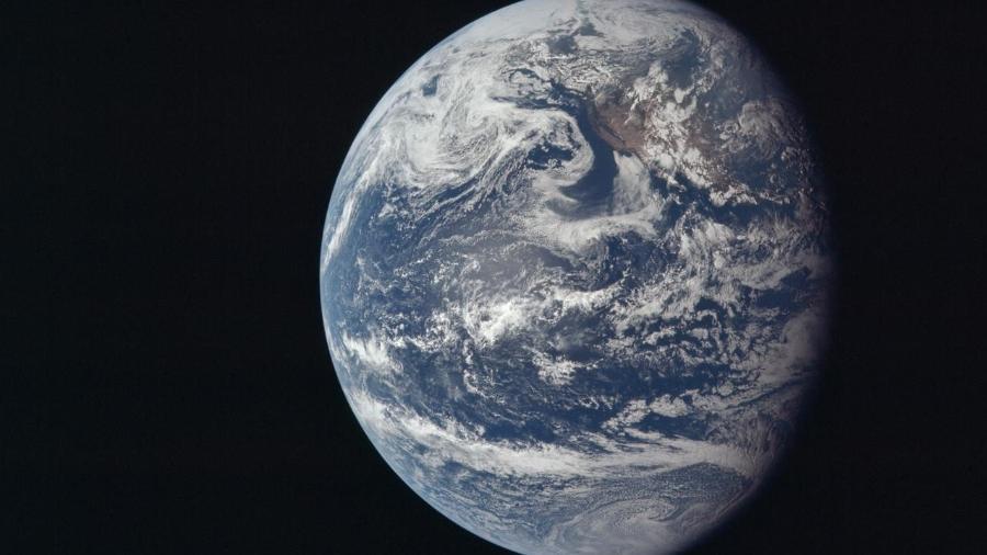 16.jul.1969 - Vista da Terra a partir do espaço, fotografada pela nave Apollo 11 quando viajava em direção à lua - AFP/Nasa/Divulgação