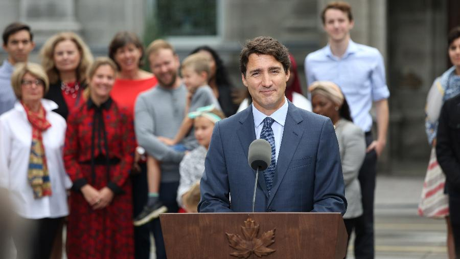Justin Trudeau venceu as eleições parlamentares do Canadá, mas governará com minoria - Dave Chan/AFP