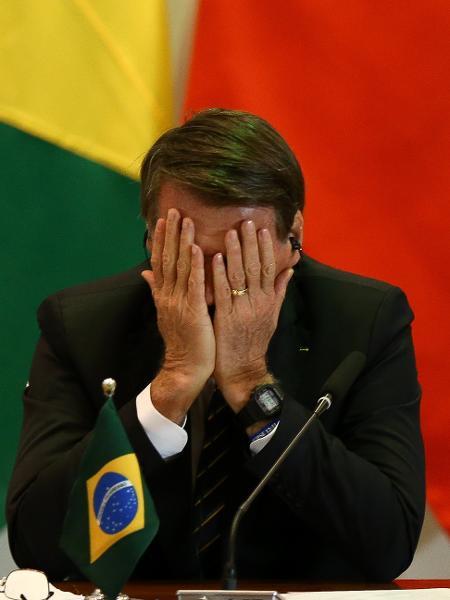 Presidente Jair Bolsonaro em evento em 2019 com líderes da Africa do Sul, Índia, Rússia e China - Pedro Ladeira/Folhapress