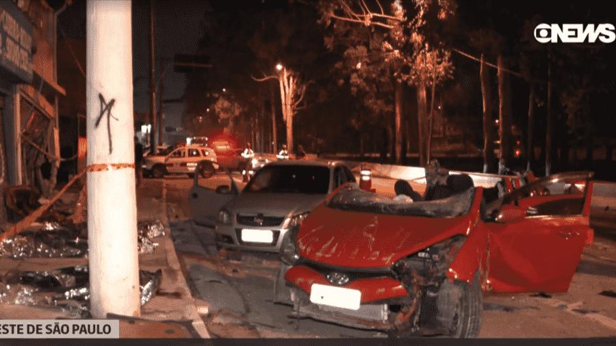 Quatro pessoas morreram em um grave acidente na zona leste de São Paulo - Reprodução/GloboNews