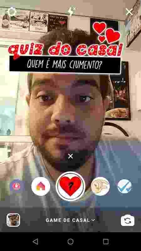 Filtro quiz do casal - Instagram - Reprodução/ Instagram - Reprodução/ Instagram