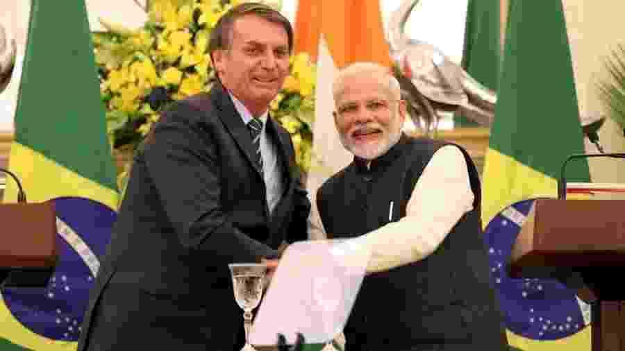 Tanto Jair Bolsonaro como Narendra Modi trouxeram a direita de volta ao poder e prometeram reformas, economias mais modernas e mais empregos em seus países - EPA