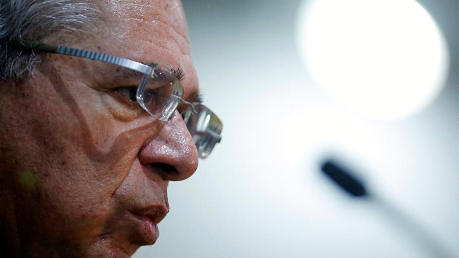 Ministro da Economia, Paulo Guedes, concede coletiva de imprensa em Brasília - ADRIANO MACHADO