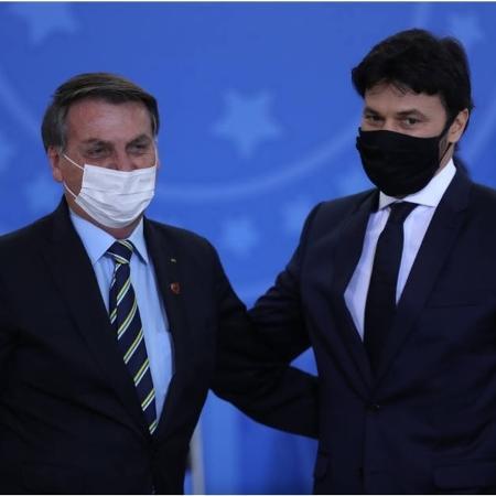 Presidente Jair Bolsonaro e ministro das Comunicações Fábio Faria - Gabriela Biló/Estadão