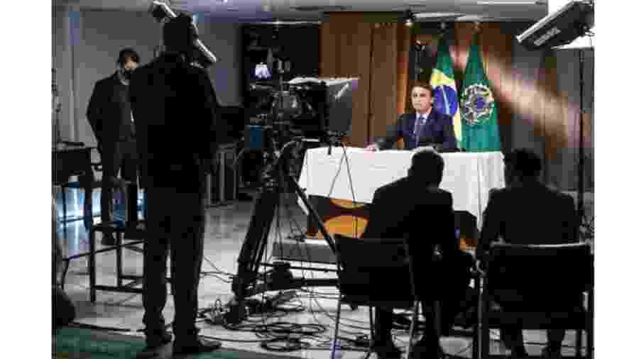 Presidente Jair Bolsonaro durante gravação de seu pronunciamento na abertura da 75ª Assembleia Geral da ONU - Marcos Correa/Divulgação