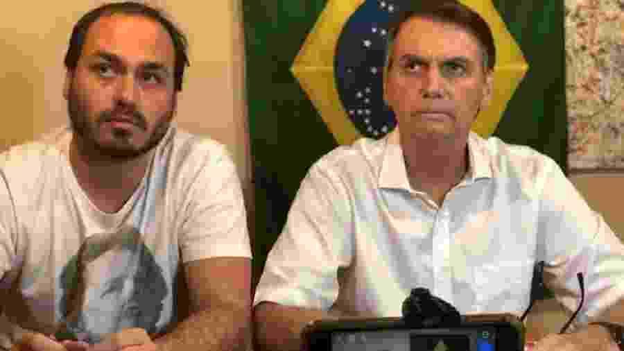 Carlos Bolsonaro revela que devolveu os R$ 10 mil doados irregularmente a sua campanha por seu pai, o presidente Jair Bolsonaro - Reprodução/Instagram