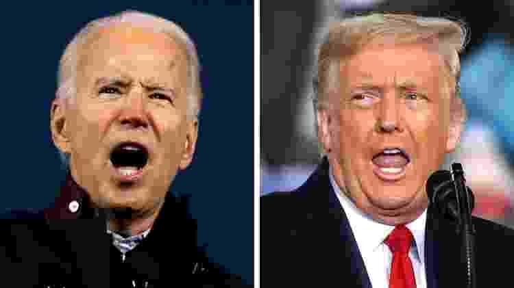Joe Biden é considerado o presidente eleito, enquanto Donald Trump não reconhece a derrota - Getty Images - Getty Images