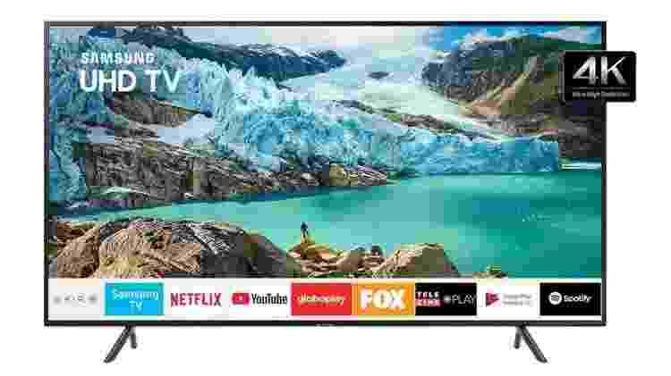 """Smart TV LED 58"""" 4K UHD Samsung - Divulgação - Divulgação"""