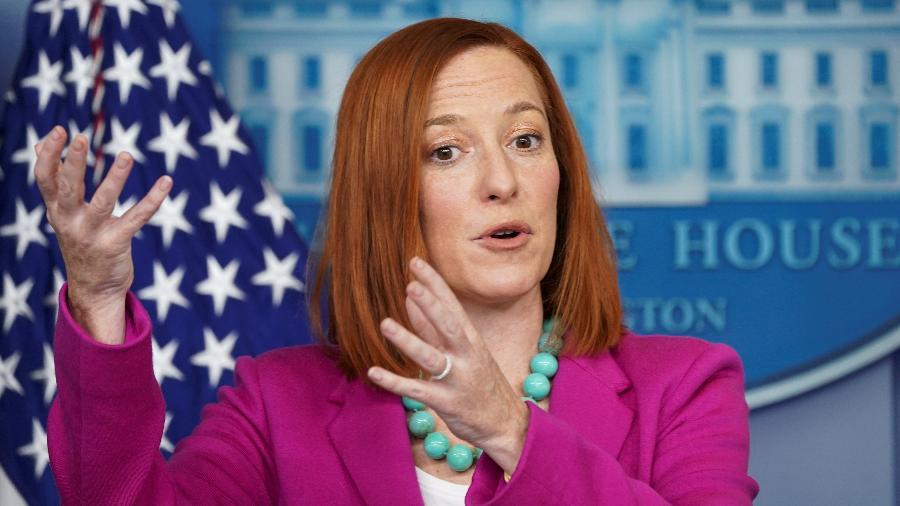 Jen Psaki, porta-voz da Casa Branca - Kevin Lamarque/Reuters