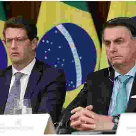 Ricardo Salles e Bolsonaro durante Cúpula do Clima - Marcos Correa/Reuters - Marcos Correa/Reuters