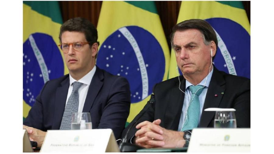 Ricardo Salles e Jair Bolsonaro acompanham a cúpula do clima dos chefes de Estado. Havia um climão contra o Brasil, e presidente brasileiro falou ao mundo coisas nas quais não acredita  - Marcos Correa/Reuters