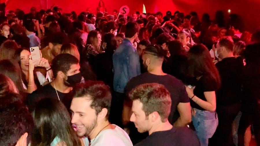 Festa clandestina aconteceu em galpão na região de Santo Amaro, na zona sul da capital - Divulgação