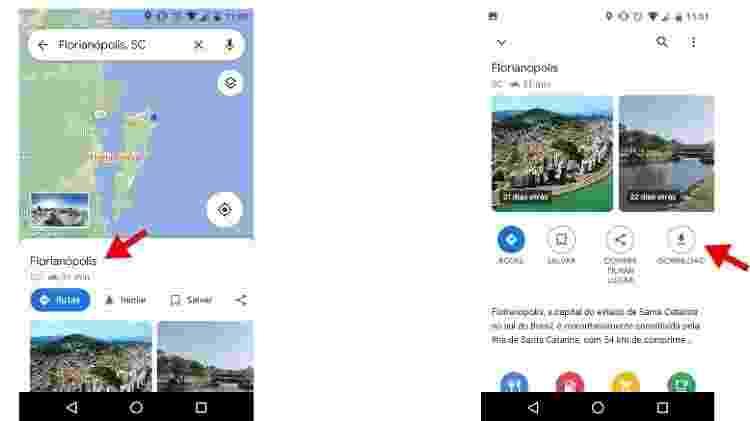 3 - como usar o Google Maps sem internet no celular? - Reprodução - Reprodução