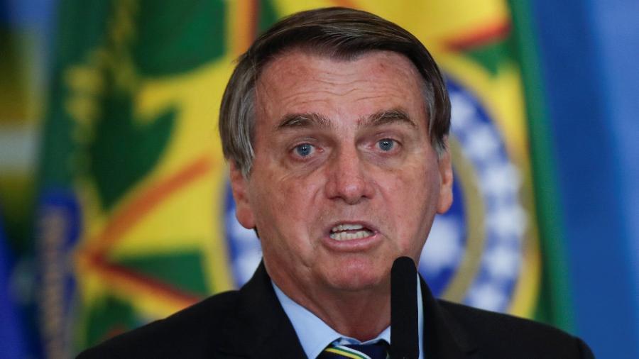 12.mai.2021 - O presidente Jair Bolsonaro (sem partido), em evento no Palácio do Planalto - Ueslei Marcelino/Reuters