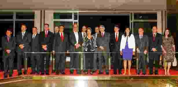Presidente Dilma Rousseff recebeu 19 governadores no Palácio da Alvorada para jantar - Roberto Stuckert Filho/PR