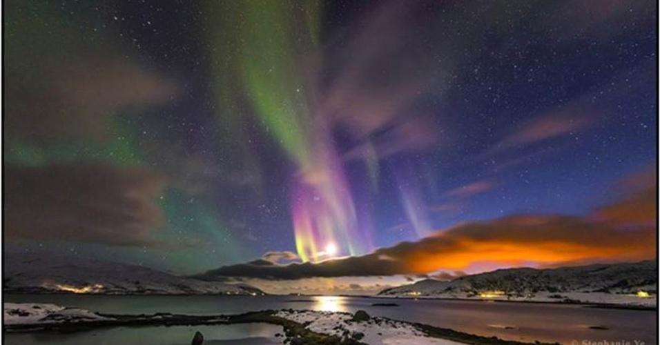28.jun.2016 - A categoria Beleza do Céu Noturno foi vencida por pela chinesa Stephanie Ye, de China, com sua foto de uma aurora boreal fotografada em Tromso, Noruega