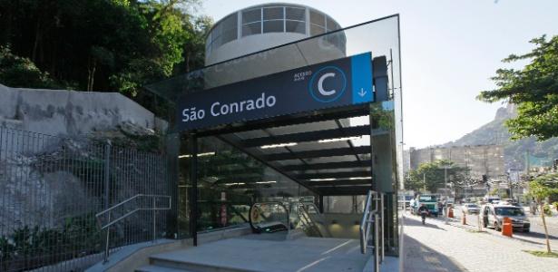 Obras na Estação São Conrado, que integra a Linha 4 do metrô carioca, estão quase concluídas. Demanda estimada pelo governo do RJ aponta circulação diária de 61 mil pessoas
