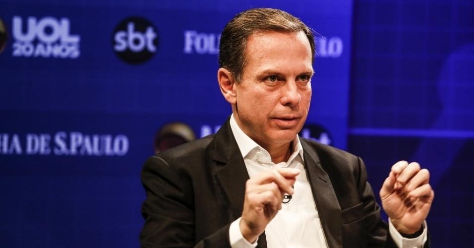 20.jul.2016 - João Doria, pré-candidato a prefeito de São Paulo pelo PSDB, participa de sabatina organizada pelo UOL, Folha de S. Paulo e SBT