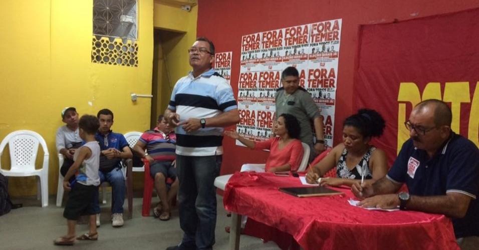 4.ago.2016 - O PSTU anunciou Francisco Gonzaga como candidato a prefeito. Nivânia Amâncio completa a chapa como vice