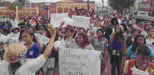 Protesto em Altamira - Karina Pinto/Folhapress - Karina Pinto/Folhapress