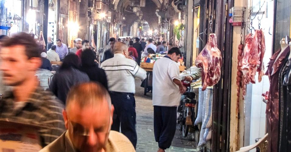 Souq (mercadão) de Aleppo, um dos mais antigos do mundo árabe