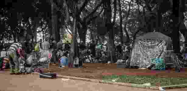 A praça Princesa Isabel, para onde parte dos usuários da Cracolândia migrou - Bruno Santos/ Folhapress