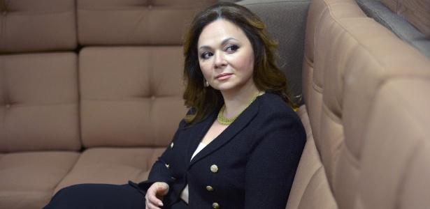 A advogada russa Natalia Veselnitskaya durante uma entrevista em Moscou