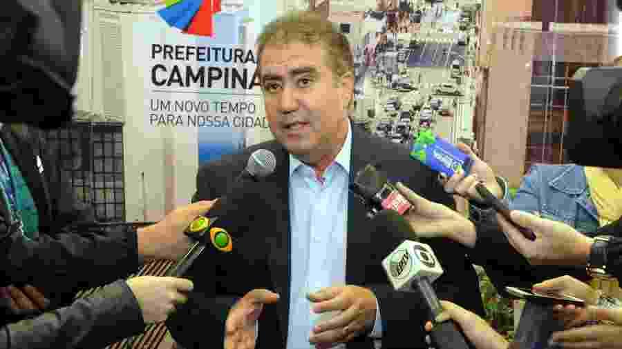 Jonas Donizette (PSB) diz que Ministério da Saúde informou aos prefeitos a previsão de vacinar 5 milhões com primeiro lote - Luiz Granzotto/Divulgação prefeitura de Campinas