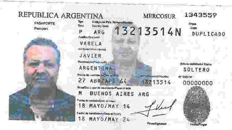 Passaporte falso utilizado por Nicola Assisi - Reprodução/OCCRP
