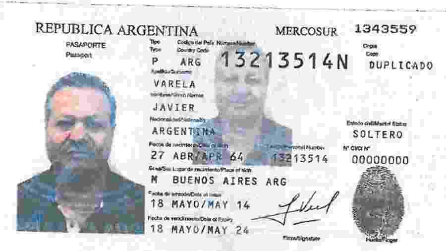 """Passaporte falso utilizado por Nicola Assisi, considerado com o principal integrante da máfia """"Ndrangheta em liberdade - Reprodução/OCCRP"""