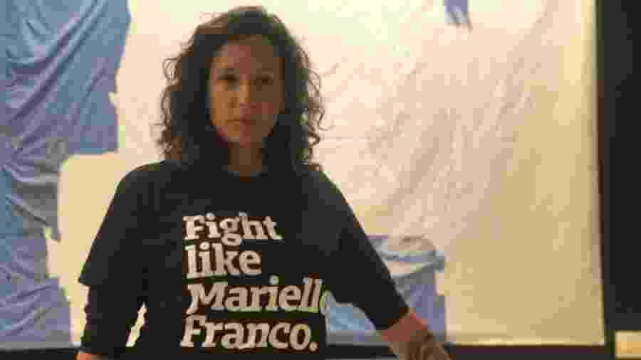 28.fev.2019 - Mônica Benício, viúva de Marielle Franco, vereadora do PSOL assassinada no Rio - Jamil Chade/UOL