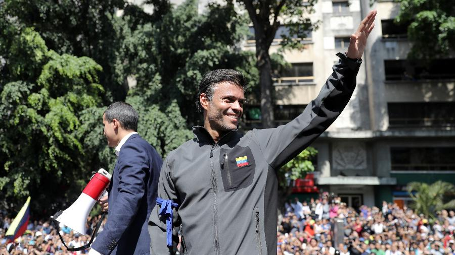 Leopoldo López foi um dos líderes da oposição que protagonizou os protestos de 2014 e acabou preso - Manaure Quintero/Reuters